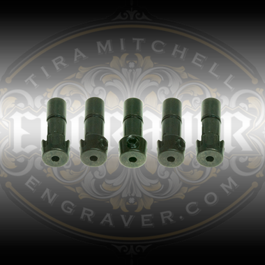 5 Pack of Universal Collets with a 3/32 inch graver bore for the PulseGraver™ available at Engraver.com.
