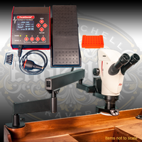 PulseGraver® all electric airless graver and stone setting tool and the Leica S9i Microscope with Integrated 1080p/10 Megapixel Camera with accessories needed to project, record, and stream as you work.