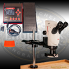 PulseGraver® all-electric airless graver and stone setting tool with Leica S9i Microscope, accessories and Swing-Arm/Boom Stand.