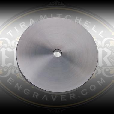 5 Inch Aluminum Wheel Blank for horizontal powered hones.  Designed for use with Engraver.com's Graver Polishing Film Disks.