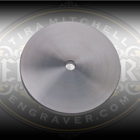 5 Inch Aluminum Wheel Blank for horizontal powered hones.  Designed for use with Engraver.com's Graver Polishing Film Disks.