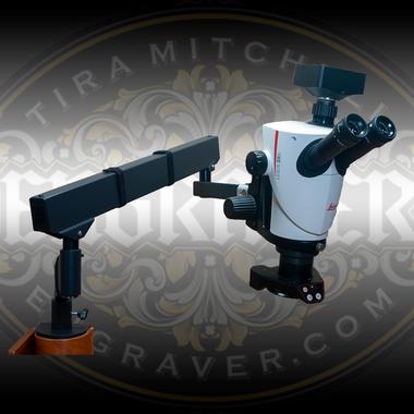 Leica S9D with Flex Arm Stand and Engraver.com 4K Special Edition Camera