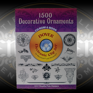 1500 Decorative Ornaments, Book and CD of royalty free images for jewelers and engravers