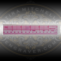 Ruler for Jewelers and Hand Engravers.  Use for design and sharpening gravers.  Available at Engraver.com