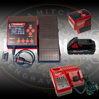 PulseGraver® Electric Airless Hand Engraving and Stone Setting System with Milwaukee Battery Power Package
