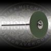 Green CeraGloss Rubber Diamond Wheel.  Course for shaping gravers.