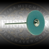 Blue CeraGloss Rubber Diamond Wheel.  Medium grit for shaping and sharpening gravers.