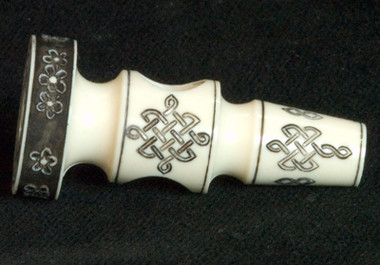 3D Casting of a Rohner Collection Hammerhead engraved by Tira Mitchell (side view)