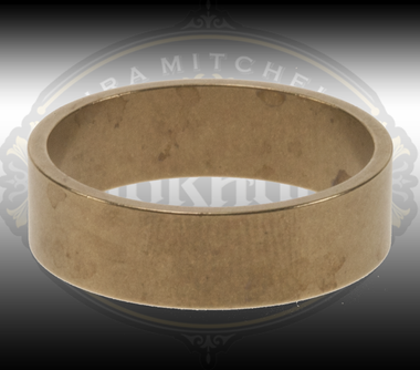 Men's brass ring for engraving and setting stones.  Flat 6.5 mm wide in size 11.
