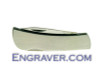 Engravable Stainless Steel 2.5 inch knife (closed)