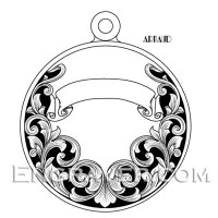 Low resolution watermarked image of Arnaud's Pet Pendant design