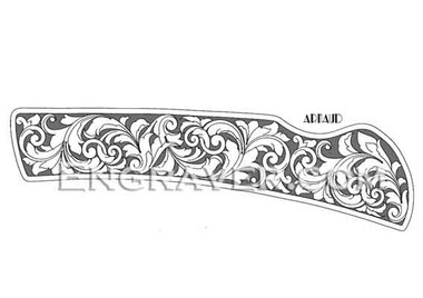 Low resolution watermarked image of a design by Arnaud for a folding knife (design 1)