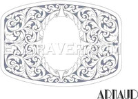 Low resolution watermarked image of a hand engraving design by Arnaud for a buckle