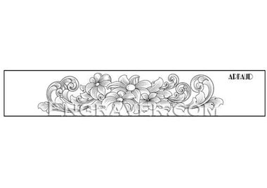 Low resolution watermarked image of Arnaud's design #1 for a bracelet with flowers