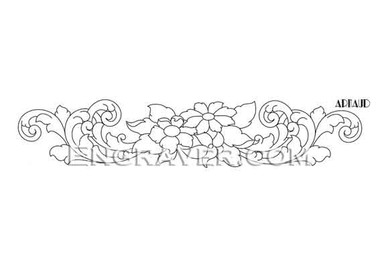 Low resoluton watermarked image of Arnaud's design for a bracelet with flowers (design 2)