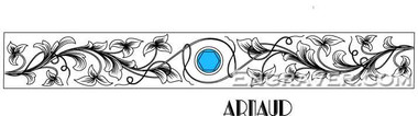 Low resolution watermarked design by Arnaud for a ring or bacelet with flowers