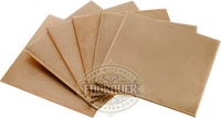 Pack of 6 copper plates, 2x2 inches, for practicing hand engraving, stone setting and sculpting.