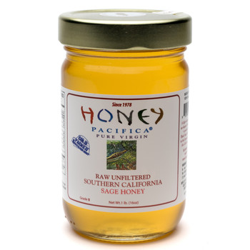 Coldpacked Sage Honey - 1 lb / 16 oz. Jar