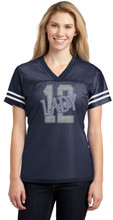 Lady 12 jersey in Navy Blue, front view