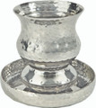 EM-CUF1 Nickel Kiddush Cup - Goblet Hammer work - Silver