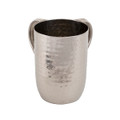 Aluminum Hammered Large Washing Cup Silver (EM-NYA1)