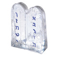 Alef Bet Glass Paper Weight