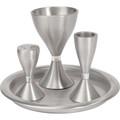 EM-HVM1 Anodized Aluminum Havdallah Set- Silver