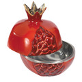 Aluminum Pomegranates Honey Dish (Large) - Red (EM-LPO2)