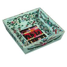 EM-MA1 Wooden Passover Matzah Plate- Oriental
