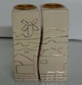 Karshi Ceramic Fitted Candle Holder Jerusalem of Gold (CS-5960)