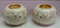 Karshi Ceramic Candle Holders Ball  Jerusalem (CS-5964)