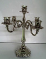 5 Branch Nickel plated candlesticks (CS-701505)