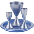 Yair Emanuel Anodized Aluminum Havdallah Set Blue (EM-HVM2)