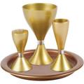 Yair Emanuel Anodized Aluminum Havdallah Set Gold (EM-HVM3)
