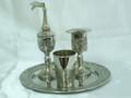 Havdallah Set Nickel Plate Jerusalem (HV-AVI119N)