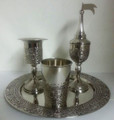 Havdallah Set Nickel Plate Jerusalem (HV-AVI119N)