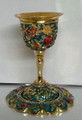 Karshi Jeweled Kiddush Goblet Seven Species Turquoise (KC-7324)