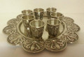 Set of 8 S/P Liquor Cups & Tray (SHB-6764)
