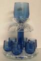 Karshi Crystal Blue 6 Cup Wine Fountain ( SHB-8065 )