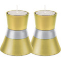 Anodized Aluminum Candlesticks Gold Small (EM-CMS3)