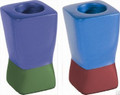 Anodized Aluminum Shabbat Candlesticks Multicolor Small (EM-CSD5)