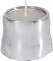 Anodized Aluminum Tea Light Single Candle Holder Silver Shiny -(EM-CSB2)