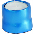 Anodized Aluminum Tea Light Single Candle Holder Turquoise (EM-CSB4)