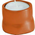 Anodized Aluminum Tea Light Single Candle Holder Orange (EM-CSB6)