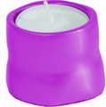 Anodized Aluminum Tea Light Single Candle Holder Pink (EM-CSB9)