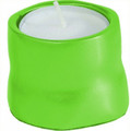 Anodized Aluminum Tea Light Single Candle Holder Green (EM-CSB10)