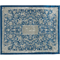 Full Embroidered Challah Cover Blue & Silver (EM-CMC6)