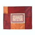 Patched Embroidered Challah Cover Shades of Red Papercut  (EM-PCC6)