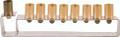 Anodize Aluminum Hanukkah Menorah - Frame Gold (EM-HMG3)