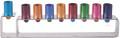 Anodize Aluminum Hanukkah Menorah - Frame Multicolor (EM-HMG4)